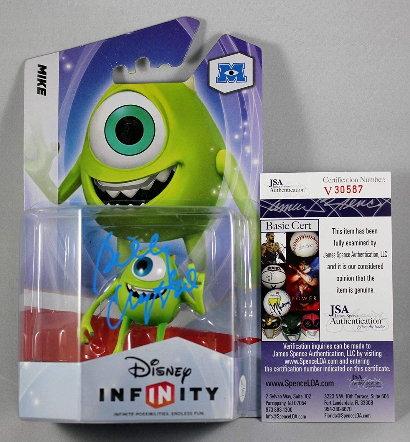 Billy Crystal Signed Infinity Mike Challenge the lowest price New York Mall Wazowski Figure Monsters Inc