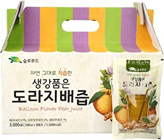 Premium Real Korean Pear, Balloon Flower Root, Ginger Juice - No Preservatives or Artificial Additives - Natural and Pure ...