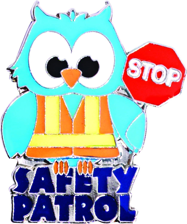 TCDesignerProducts Safety Patrol Owl Die-Cut Award Lapel Pin