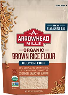 Arrowhead Mills Organic Gluten Free Brown Rice Flour, 24 oz. (Pack of 6)