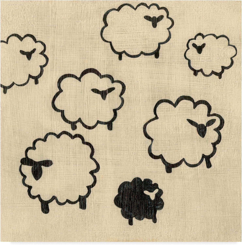 Trademark Fine Art Best Friends Sheep Art by Chariklia Zarris, 14x14