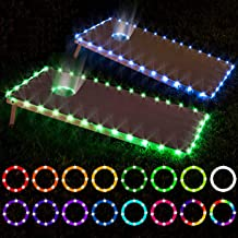 LED Cornhole Lights, remote control Cornhole Board Edge and Ring LED Lights, 16 Color change by yourself, a great addition...