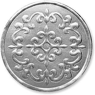 Castillo Filigree Embossed Foil Certificate Seals, 32 Count (Silver)