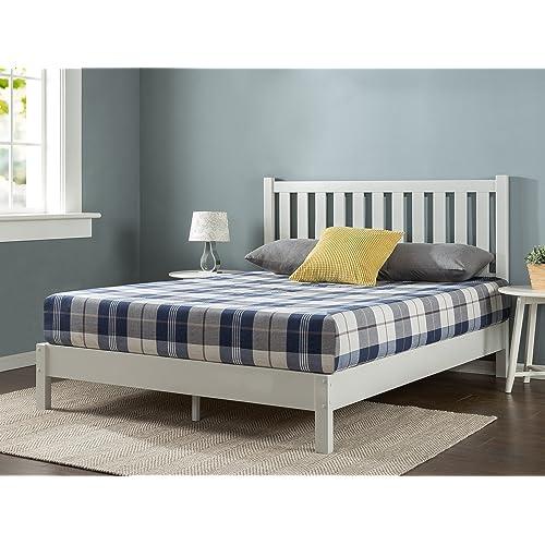 White Platform Beds Amazon Com