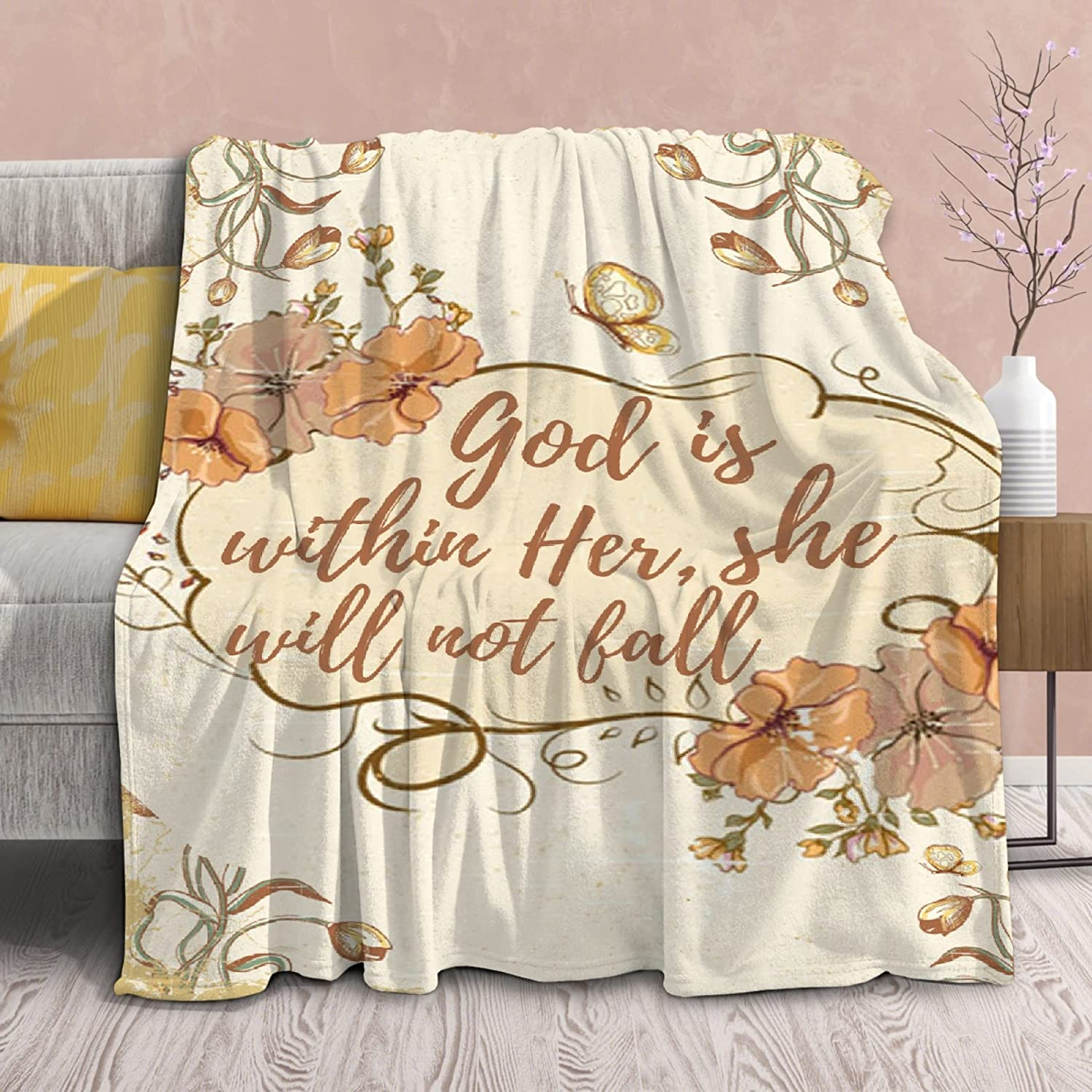 Blanket Bible supreme Free Shipping Cheap Bargain Gift Verses on God is Sof Lightweight Her Within Throws
