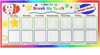 kids brushing teeth chart