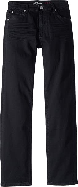 7 For All Mankind Kids Slimmy Jeans in Black Out (Big Kids)