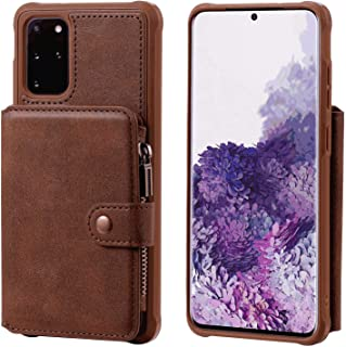 PU Leather Flip Cover Compatible with Samsung Galaxy Note 10, coffee Wallet Case for Samsung Galaxy Note 10