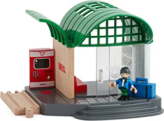 BRIO World - 33745 Train Station | 4 Piece Toy Train Accessory for Kids Ages 3 and Up