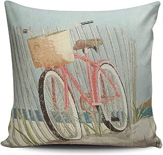 SALLEING Custom Fashion Home Decor Pillowcase Nantucket Bike Square Throw Pillow Cover Cushion Case 18x18 Inches One Sided Print