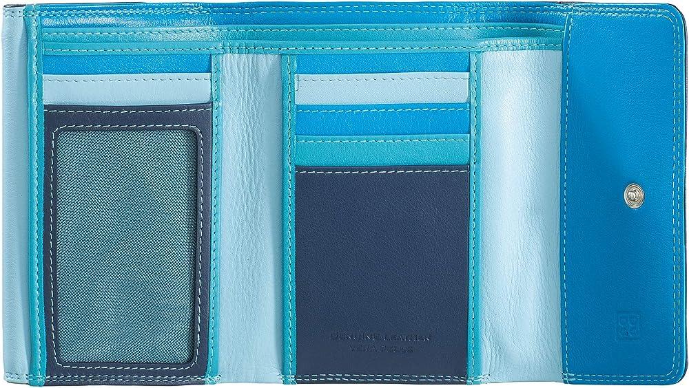 dudu portafoglio per donna in pelle porta carte di credito con protezione anticlonazione 8031847129939