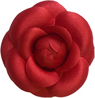 product image for Camellia Silk Fabric Flower Pin Brooch Flower. Red Camellia Brooch Pin - Hand-made in New York's Garment Center (American Made)