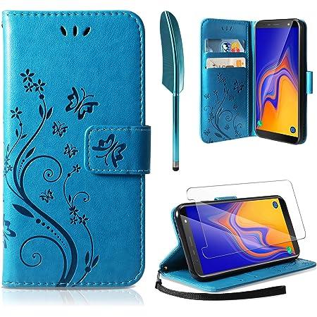 DEKT040239 Bleu Emplacements Cartes , Coque pour Galaxy A10S Protection Housse en Cuir PU Pochette, Languette Magn/étique , pour Samsung Galaxy A10S Fonction Support