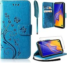 AROYI Funda Samsung Galaxy A10, Funda Piel PU Samsung Galaxy A10 Soporte Plegable Ranuras para Tarjetas Magnético Ultra-Delgado Carcasa para Samsung Galaxy A10 Azul