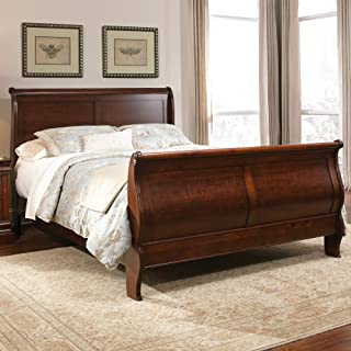 Liberty Furniture Industries Carriage Court Queen Sleigh Bed, Mahogany Stain Finish