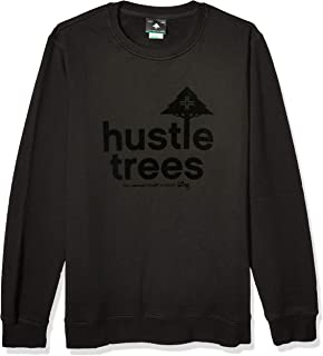 LRG Men's Hustle Trees Logo Fleece Sweatshirt