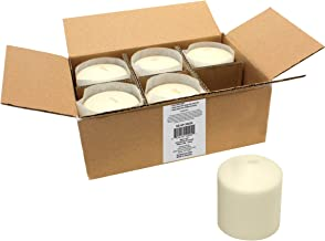 Stonebriar 18 Hour Long Burning Unscented Pillar Candles, 3x3, Ivory