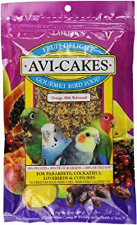 LAFEBER'S Fruit Delight Avi-Cakes Pet Bird Food, Made with Non-GMO and Human-Grade Ingredients