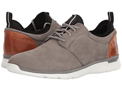 Johnston & Murphy Waterproof Prentiss XC4(R) Casual Dress Plain Toe Sneaker (Gray Waterproof Tumbled Nubuck) Men