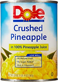 DOLE Crushed Pineapple in 100% Juice 20 oz. Can