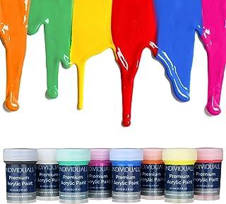 Juego de pintura acrílica premium por individuall – 8 pin