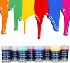 Premium Acrylic Paint Set by individuall – 8 Professional Grade Acrylic Paints – Art Supplies Made in Germany – Craft Acry...