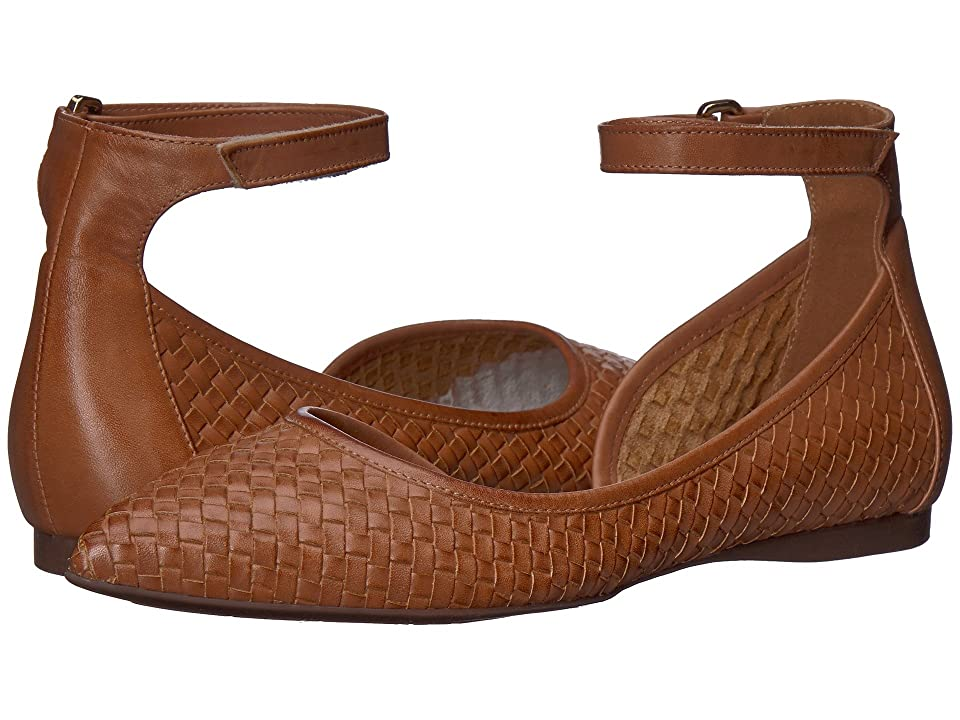 French Sole Adrienne (Cognac Woven Leather) Women