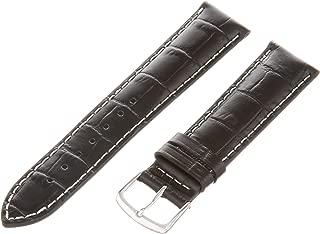 Men's MSM834RA-180 18-mm Black Genuine Italian Calfskin Leather Watch Strap