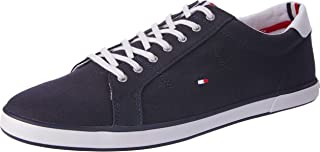 TOMMY HILFIGER Canvas Lace Up Trainers Men's Canvas Lace Up Trainers
