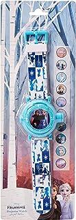 ساعة يد بمينا رقمي ومزودة بمصباح يدوي وجهاز عرض حتى 10 صور مزينة بشخصية فروزن من ديزني - WD19644