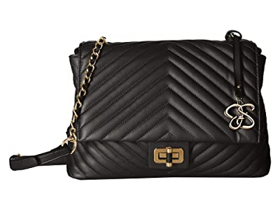 Jessica Simpson Bobbi Shoulder (Black) Shoulder Handbags