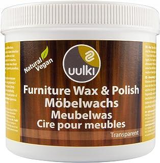 Uulki Möbelpolitur Möbelwachs Natürlich & Vegan 500 ml - Holzwachs Pflege für Möbel Politur für innen - Gesundheitsschonende Holzpflege farblos