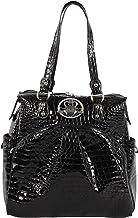 "Kathy Van Zeeland Luggage Croco PVC 16"" Shopper Bag (16in, Black)"