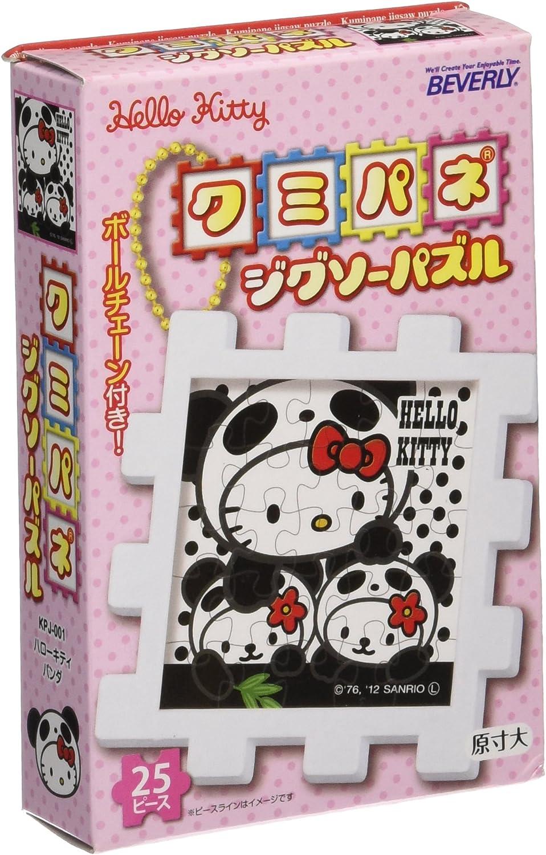 Kumi panel Jigsaw Puzzle 25 piece Hello Kitty panda KPJ-001 (japan import)