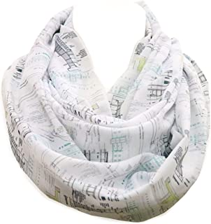 Architectural infinity Scarf Gift for architects construction interior designer architect birthday gift for her graduation present