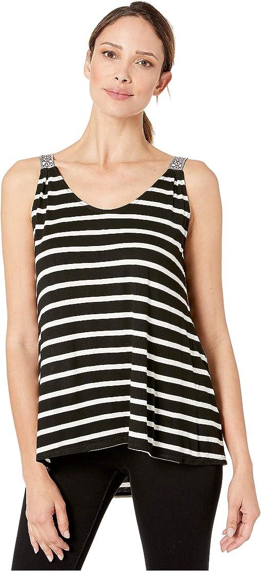 Black/Nautral Wide Nautical Stripe