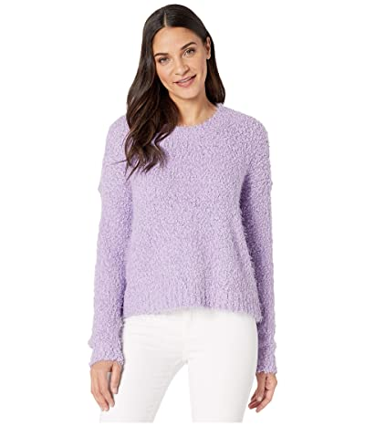 Show Me Your Mumu Cropped Varsity Sweater (Lilac Knubby Knit) Women