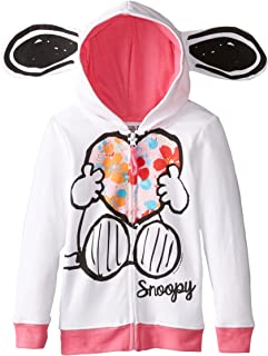 Girls' Snoopy Fleece Hoodie with Ears