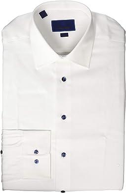 Trim Fit Micro Textured Dress Shirt