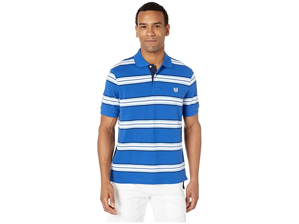 CHAPS Polo-Short Sleeve-Knit (Blue 1) Men's Clothing
