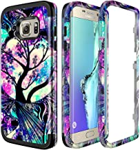 Lamcase for Galaxy S6 Edge Case Shockproof Dual Layer Hard PC & Flexible Silicone High Impact Durable Bumper Armor Protective Case Cover Samsung Galaxy S6 Edge G925, Life Tree