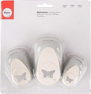 """Rayher perforatrice papillon en un lot de 3 €"""" perforatrice au design de papillon pour vos réalisations de faire part, car..."""