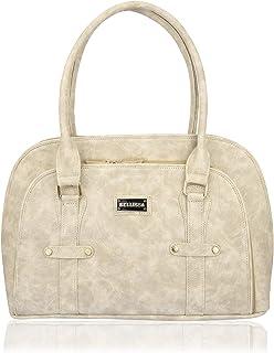 Bellissa PU Leather Handbag for Women (Cream)