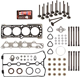 Evergreen HSHBIEV8-10416L Head Gasket Set Head Bolts Intake Exhaust Valves Fits 06-08 Chevrolet Aveo Aveo5 1.6L 98CID DOHC 16V VIN 6