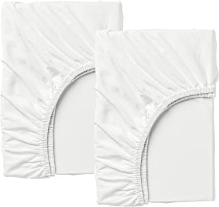 IKEA Len Fitted Sheet F/Extend Bed, Set Of 2, White