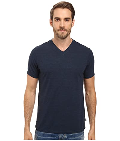 Threads 4 Thought Baseline Tri-Blend V-Neck Tee (Midnight) Men