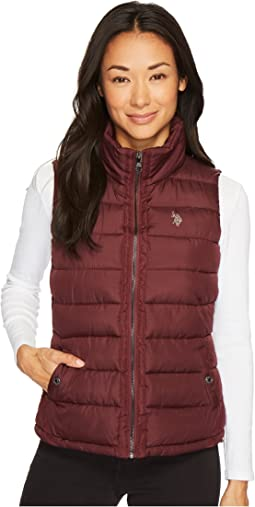 Vest with Grosgrain Trim