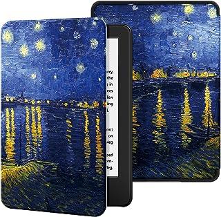 Capa para Kindle 10a geração (aparelho com iluminação embutida) - rígida - sistema de hibernação - Noite Estrelada Sobre o...