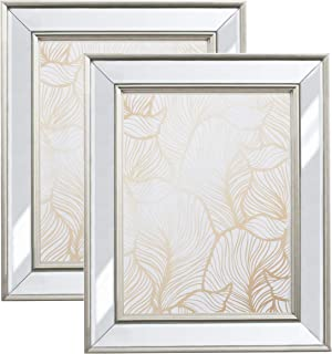 5x7 Mirrored Picture Frame - 2 Pack Mount or Tabletop Display, Frames by EcoHome