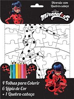 Ciranda Miraculous Ladybug: Diversão com Quebra-Cabeça, Multicores
